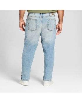 Jeans ajustados rectos grandes y altos para hombres con Coolmax - Goodfellow & Co ™ Light Wash