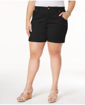 Estilo Co Plus Tamaño Shorts Deep Black 24W