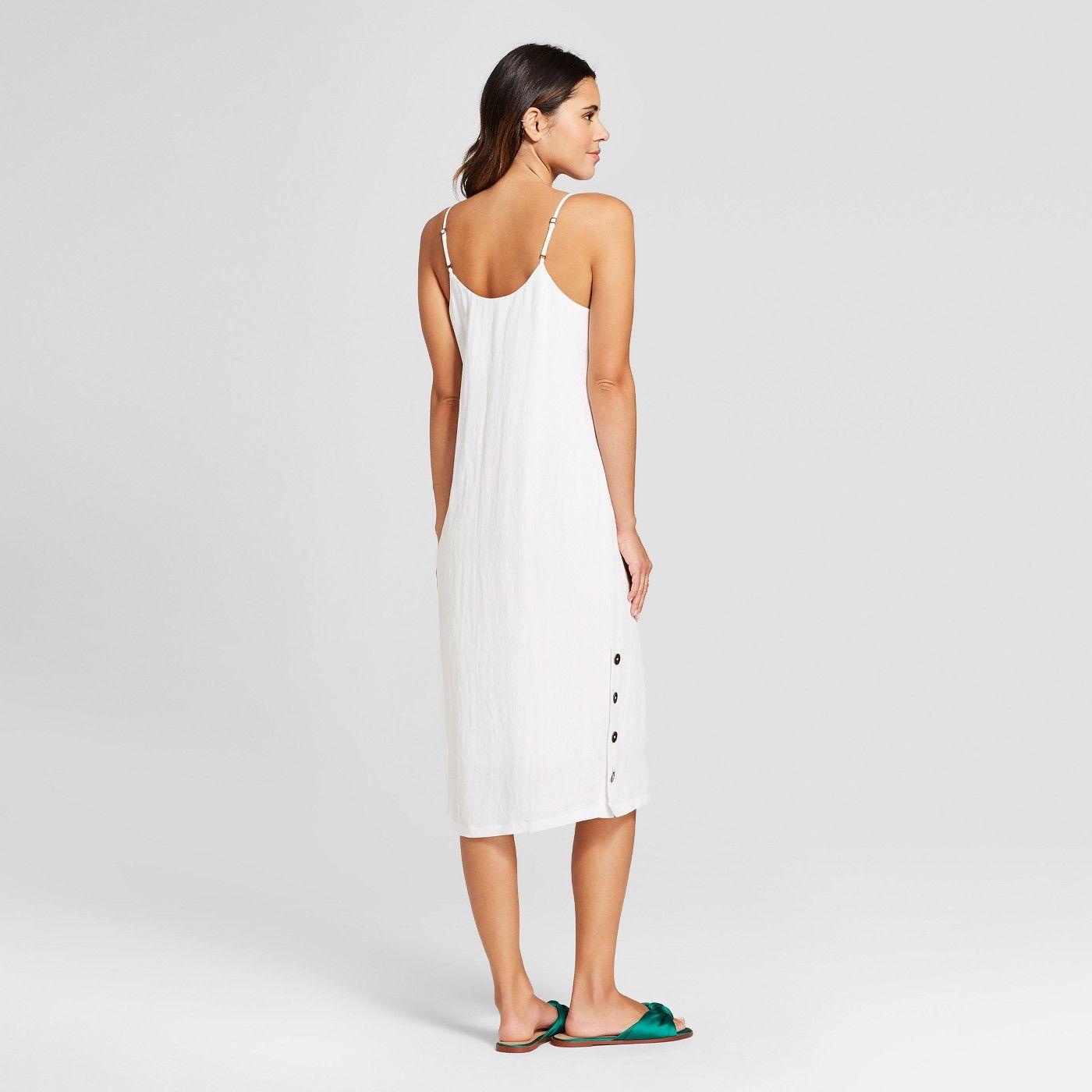 novísimo selección mas fiable venta caliente Vestido de tirantes midi con abertura lateral para mujer - Mossimo ™ White