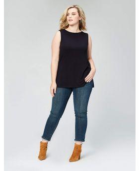 Lauren Ralph Lauren Camiseta de tirantes de tamaño extra grande Polo Negro 1X