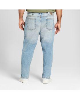 Jeans ajustados rectos grandes y altos para hombres con Coolmax - Goodfellow & Co ™ Light Wash