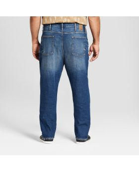 Jeans ajustados rectos grandes y altos para hombres con Coolmax - Goodfellow & Co ™ Medium Vintage Wash