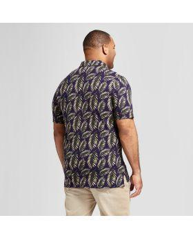 Camisa polo de manga corta estándar y grande para hombres - Goodfellow & Co ™ Palm Tree