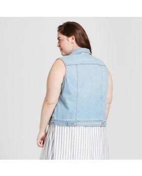 Chaleco vaquero de talla grande para mujer - Universal Thread ™ Light Wash