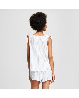 Camiseta de tirantes de rayas con lazo para pijama para mujer - Xhilaration ™ Blue