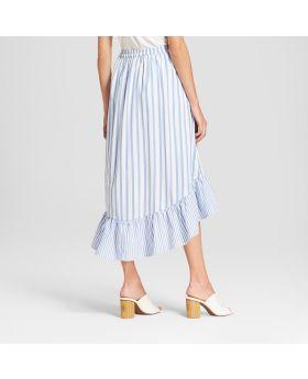 Falda a media pierna con volantes en la colmena para mujer - Who What Wear ™