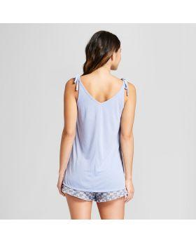 Conjunto de pijama y camiseta sin mangas con tirantes tipo corbata y correas - Xhilaration ™ Purple