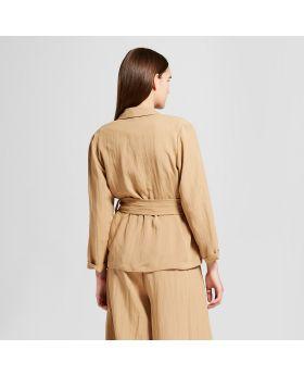 Blazer con lazo en la cintura para mujer - Mossimo ™ Khaki