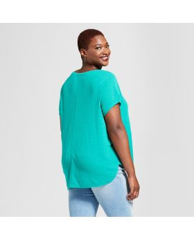 Camisa de manga corta Henley para mujer de talla grande - Universal Thread ™