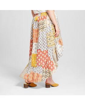 Falda de talla alta y baja para mujer - Xhilaration ™ White