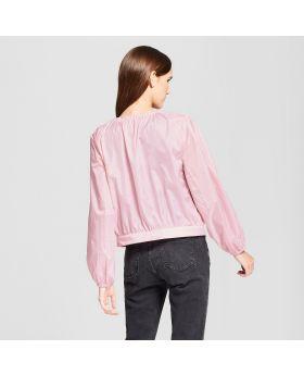 Chaqueta femenina de anorak Sheered - Mossimo ™ Pink