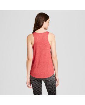 Camiseta sin mangas con el signo de la paz para mujer Weekend Soul - Rojo
