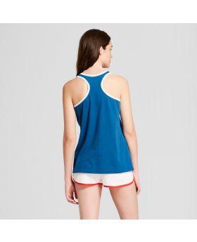Conjunto de pijama Marvel Captain America Tank / Boxer para mujer - Azul