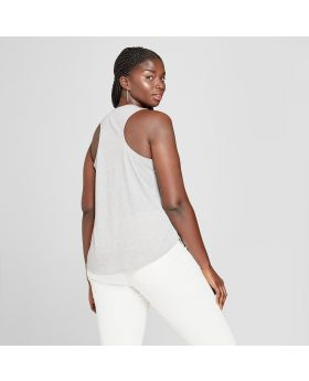 Camiseta sin mangas con gráfico del tamaño extra grande Aries Seal para mujer - Modern Lux (Juniors ') Grey