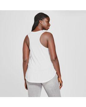 Camiseta de tirantes sin mangas con gráfico Taurus, de talla grande, para mujer - Modern Lux (Juniors ') White