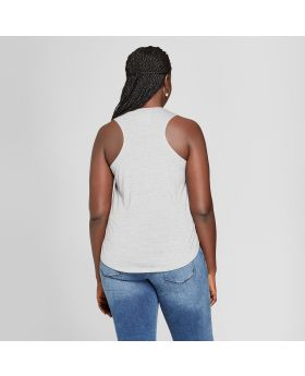 Camiseta de tirantes con gráfico de arte Libra Sign Plus para mujer - Modern Lux (Juniors ') gris