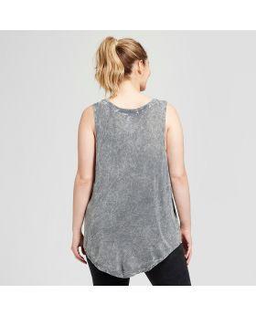 Camiseta sin mangas con estampado floral y floral de talla grande para mujer de talla grande - Roscas Grayson (Juniors ') grises