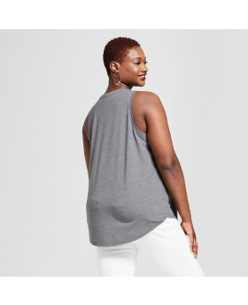 Camiseta de tirantes sin mangas con gráfico de tallas grandes para mujer, tamaño grande - Grayson Threads (Juniors ') Charcoal