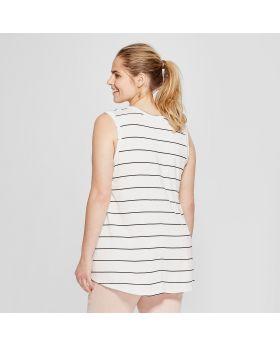 Camiseta de tirantes con gráfico a rayas para mujer, de talla grande, para mujer - Grayson Threads (Juniors ') White