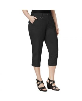 Estilo Co Plus Size Capri Cargo Pantalones Deep Black 22W