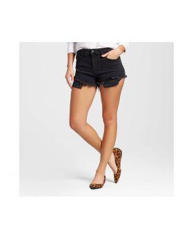 Pantalones cortos de gran altura Para mujer con Raw Hem Negro - Mossimo ™