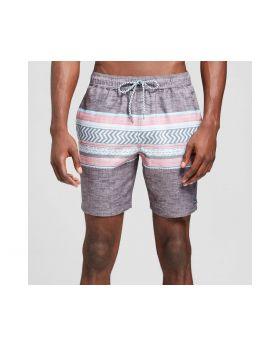 Chevron Colorblock pantalon de playa para hombres - Negro Trinidad colectiva