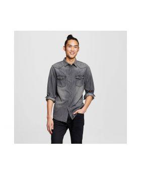 Camiseta Manga Larga De Hombres de algodón Negro - Mossimo Supply Co. ™