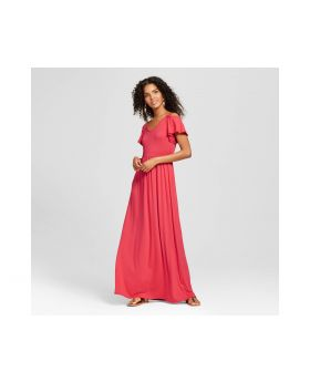 Vestido Maxi Color Coral - Vanity Room