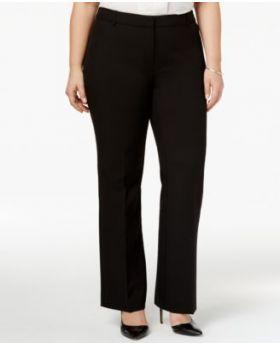 Alfani Plus Size pantalones de pierna recta negro profundo 22W