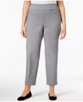 Alfred Dunner Plus Size Pantalones cortos con cierre, gris 24WS