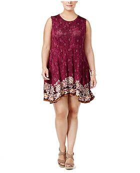 Vestido de columpio estampado y estampado Style Co Plus Forbidden Embrace 1X