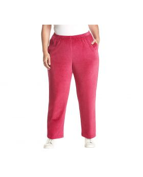 Alfred Dunner Plus Size Velour pantalones sin cordones Ruby 22WS