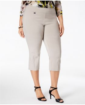 Alfani Plus Size Pull-On pantalones de paja de verano 18WP