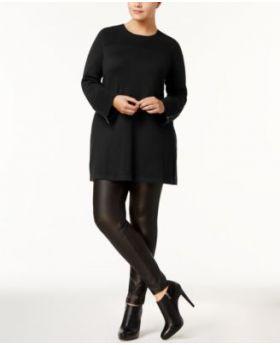 Suéter tipo túnica Alfani Plus Deep Black 2X