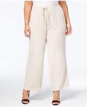 Calvin Klein Plus Size Pantalones de pierna ancha Latte 1X