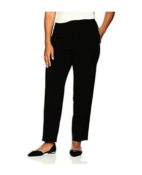 Calvin Klein Plus Size pantalones de pierna cónica negro 18W